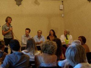 Il Prof. Fabrizio Franceschini presenta Elio Lutri al pubblico del S.M.S.